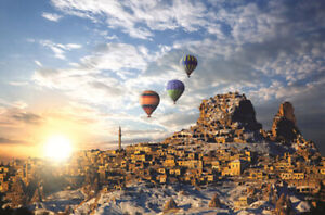 1000-Pieces-Adult-Puzzle-Set-Hot-Air-Balloons-Retro-Town-Jigsaw-Difficult-Puzzle
