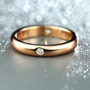 18K-Rose-gold-0-1-ct-Round-cut-Diamond-4-Stone-Band-Ring-FREE-PP