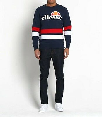 Ellesse Men's Sweatshirt - Puccini - Medium -  Navy Red White - RRP £55 - SALE