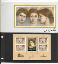 JERSEY PRESENTATION PACK 1986 JERSEY LILIES MINIATURE SHEET MNH SG MS382