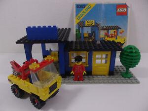 Vintage-1980-Lego-Legoland-6363-Auto-Repair-Shop-complete-with-Instructions