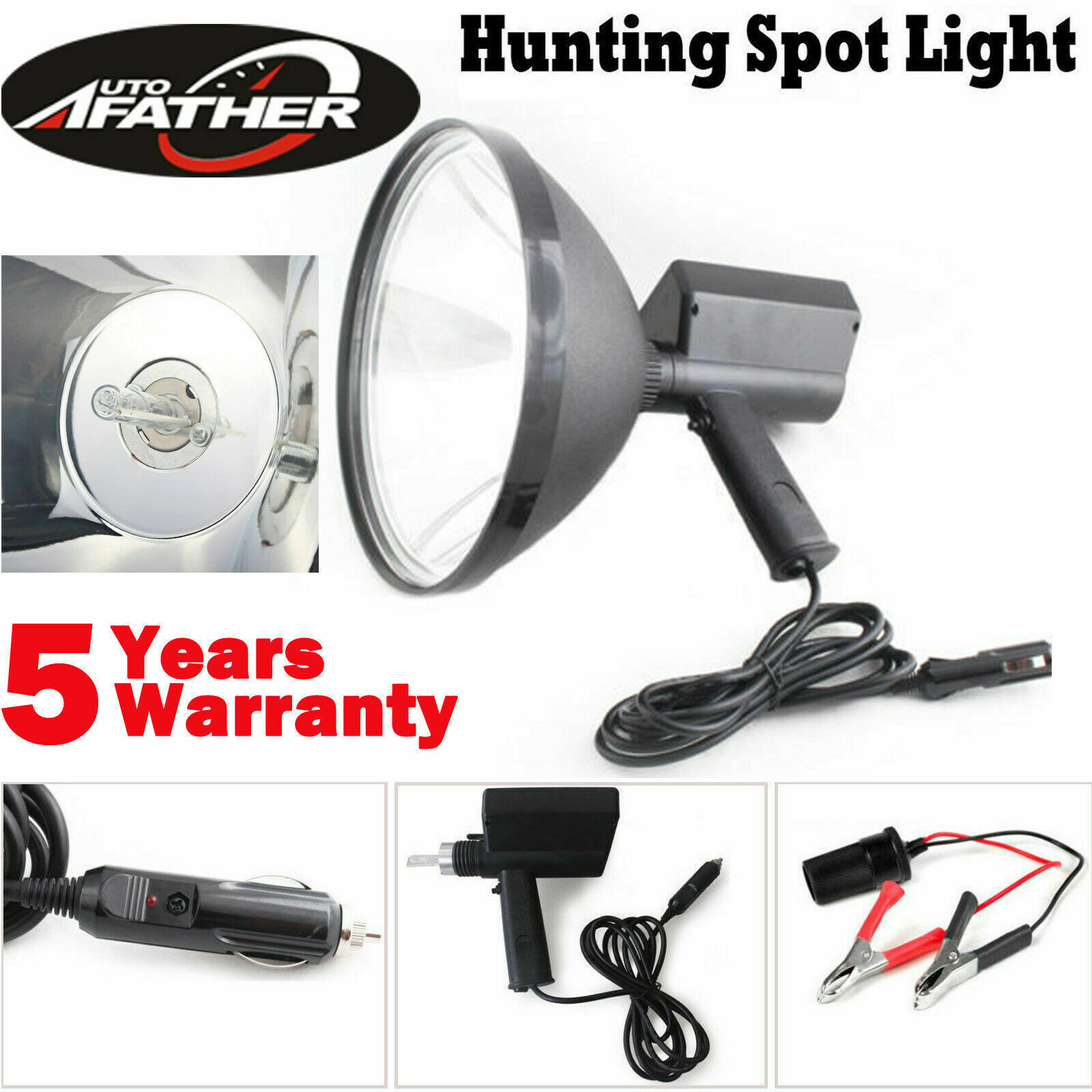 280000LM 12V 2800W HID 9in 240mm Handheld Lamp Camping  Hunting Fishing Spotlight  good quality