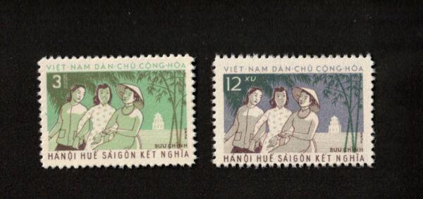 1961 Vietnam Timbres Sc # 162, 163