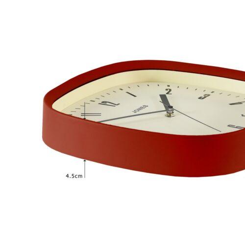 Jones Clocks® Square Case Wall Clock The Marvel Clock for Office//Kitchen 30cm