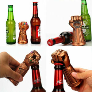 STURDY-WROUGHT-IRON-Soda-Beer-Bottle-Can-Opener-THANOS-INFINITY-GAUNTLET-GLOVE
