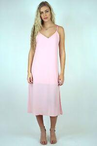 NWT-EVERLY-Criss-Cross-Blush-Midi-Slip-Dress