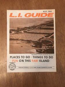 Long Island Bureau.Vintage 1964 L I Guide Long Island Visitors Bureau Worlds