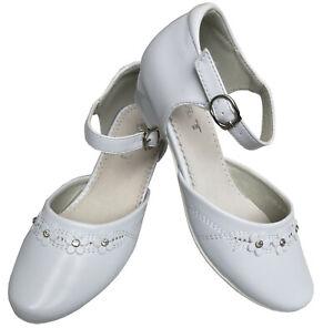 the latest dbbb2 e6de0 Details about Communion Shoes Communion Rhinestone Glitter Flower Communion  Shoes Leather- show original title