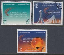 Bahrain 1999 Mi.676/78 SPECIMEN Börse exchange Himmel sky Denkmal [st2641]