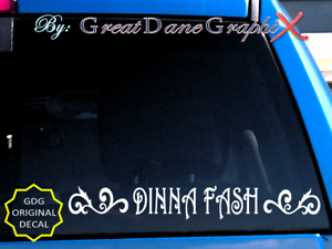 Dinna Fash With Scroll Style 1 Vinyl Decal Sticker Color Choice High Quality Ebay