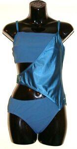 Ladies-Speedo-Swimsuit-Sculpture-Wrap-Swimming-Costume-Swimwear-Teal-Size-38