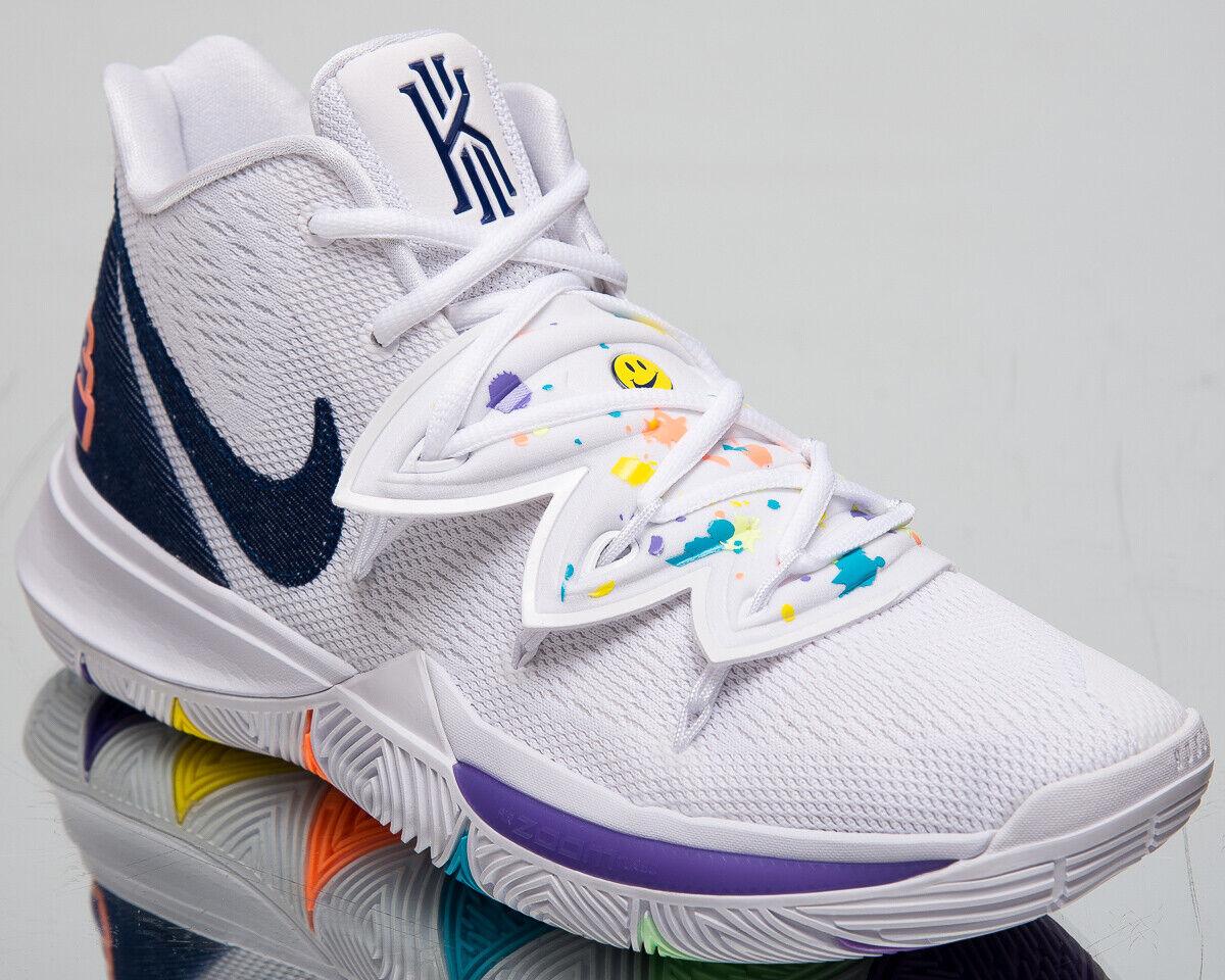 Nike Kyrie 5   Haben einen Tag   Herren Weiß Basketball Turnschuhe AO2918-101