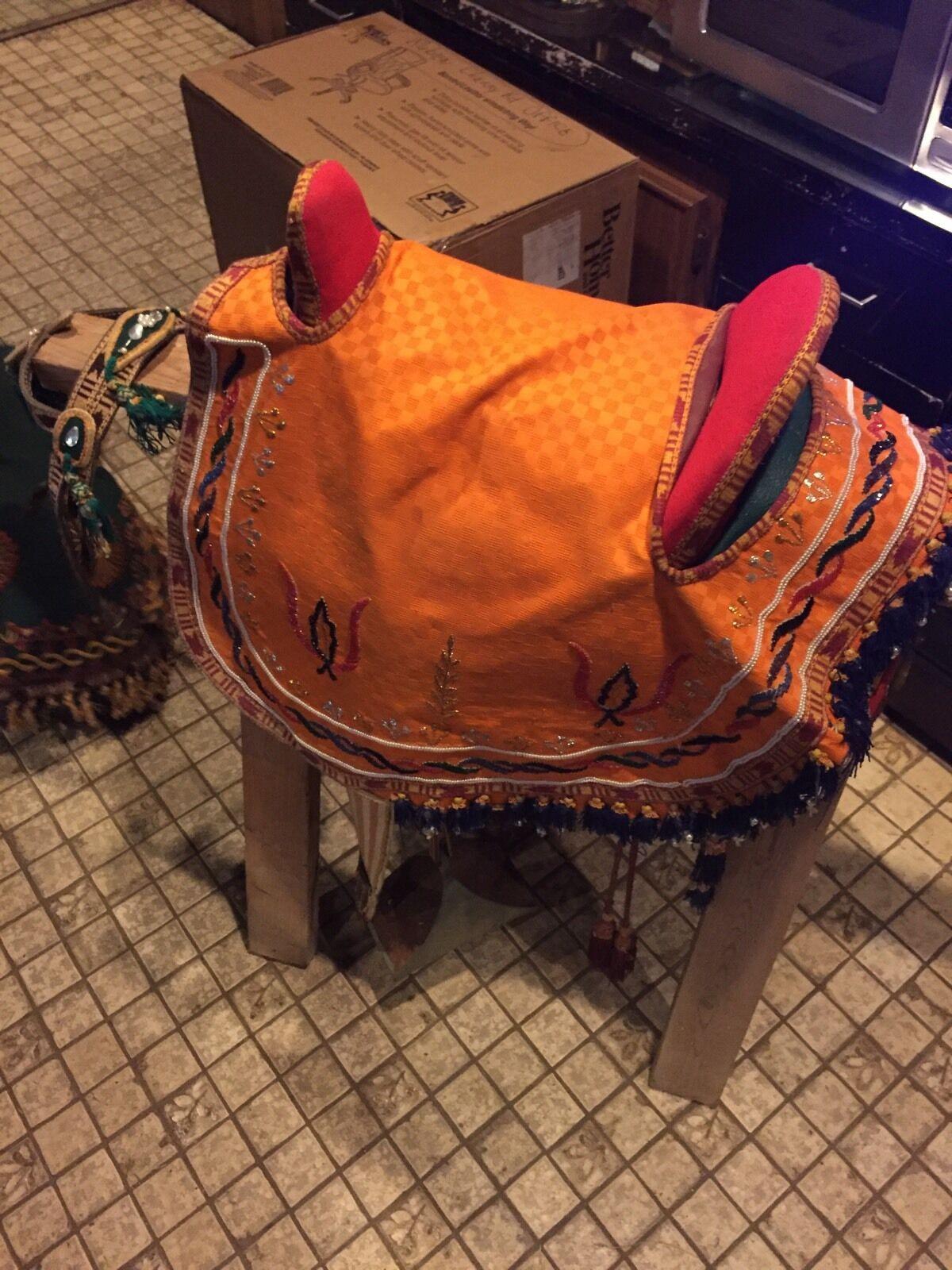Native Costume Saddle,  Original Arabian Native Costume Saddle and Headstall