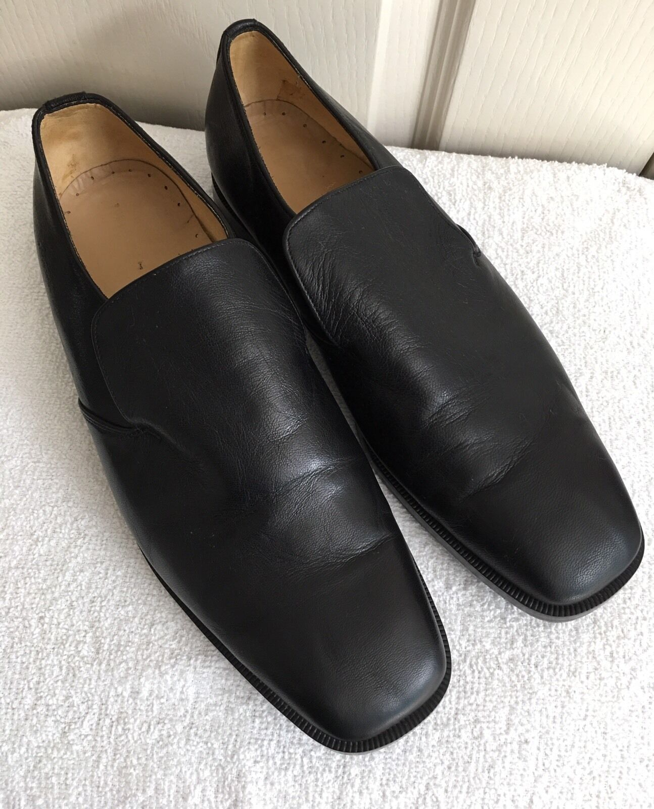 comodamente Mens SIAM LEATHER GOODS nero Slip On Dress Loafers scarpe scarpe scarpe Dimensione EU 46 - US 13  scelte con prezzo basso
