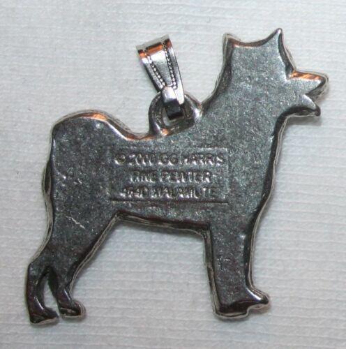 Alaskan Malamute Dog Harris Fine Pewter Pendant USA Made