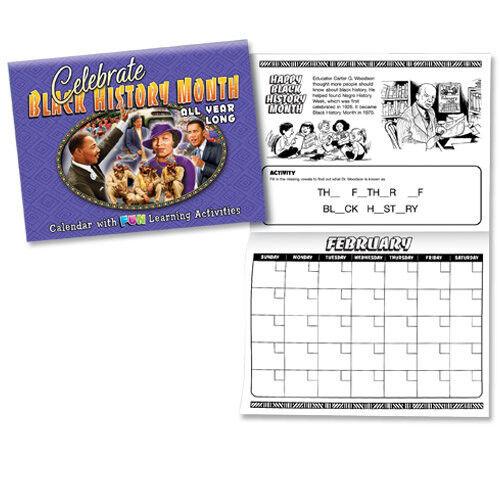 Children/'s Activity  Black History Calendar