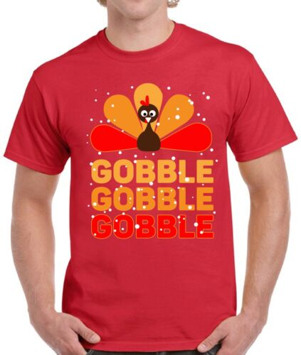 Thanksgiving Shirts for Men Funny Gobble Gobble Gobble Turkey Holiday Shirts