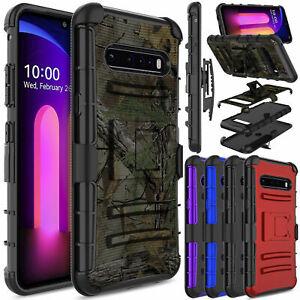 For-LG-V60-ThinQ-V60-ThinQ-5G-Defender-Belt-Clip-Kickstand-Holster-Case-Cover