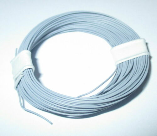 --NEU Hochflexible 0,04 mm² Decoderlitze 10m Ring   GRAU 1m = 17,9 ct