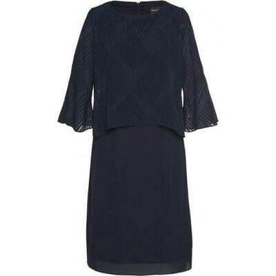 selecthermann lange kleid damen abendkleid stola 3/4 Ärmel blau gr 52 neu  ebay