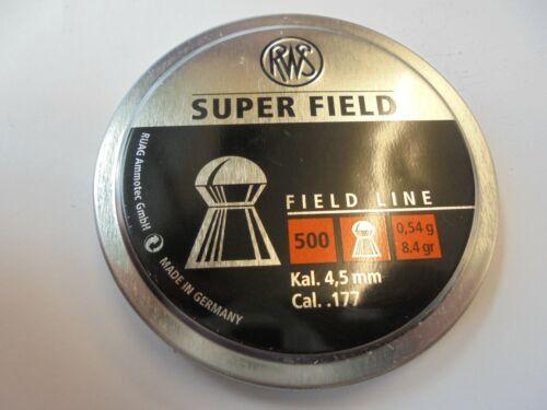RWS superfield  .177 4.5 mm x 2 TINS 1000 air rifle pellets