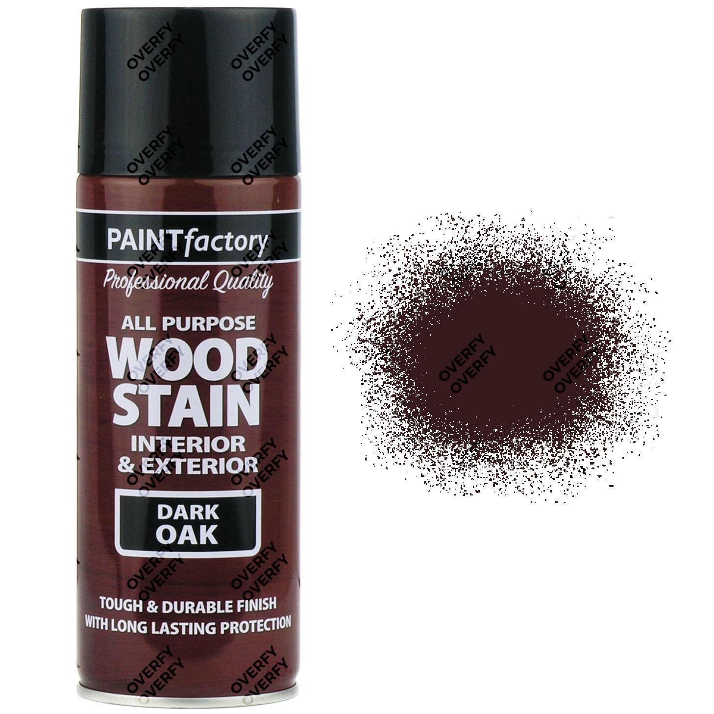 400ml All Purpose Dark Oak Satin Spray Paint Brown Wood Stain