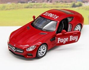Wedding-Day-Car-Gift-Personalised-Name-Page-Boy-Usher-Mercedes-Toy-Present-Boxed