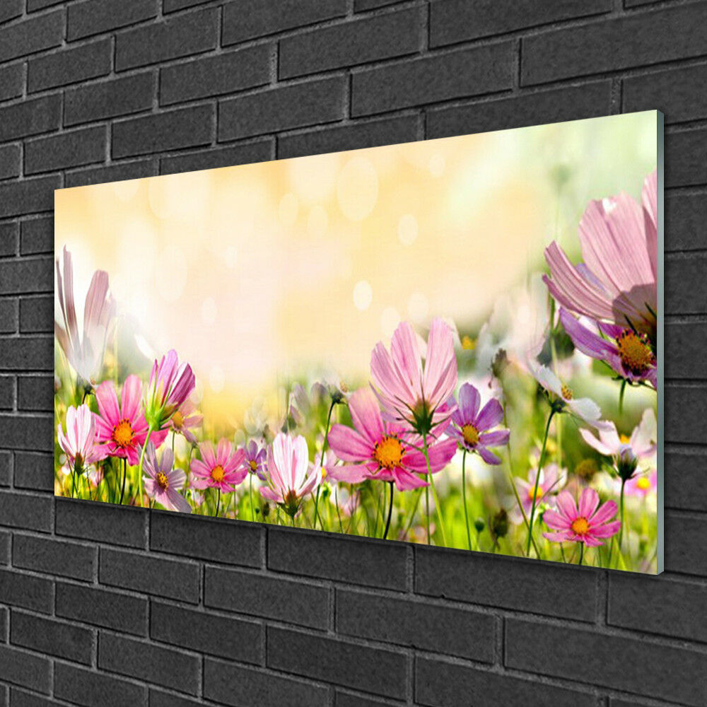 Image sur verre Tableau Impression 100x50 Nature Fleurs