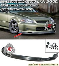 GV-Style (Time Attack) Front Lip (Urethane) Fits 99-00 Honda Civic 3dr