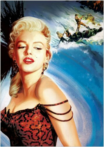 Marilyn Monroe Classic Movie Large Poster or Canvas Art Print Maxi A1 A2 A3 A4