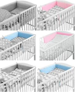 BABY-DIMPLE-BEDDING-SET-3-5-6-PILLOW-DUVET-PADDED-BUMPER-FIT-COTBED-140x70