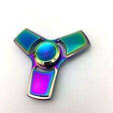 4~5 Min Spin Rainbow Tri Hand Fidget Spinner Dustproof Bearing EDC Finger Gyro