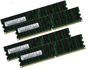 4x 4gb 16gb Ecc Ram Mémoire Ibm Power 6 Bladecenter Js22 667 Mhz Registered-afficher Le Titre D'origine Bovo2ccy-07161239-459438321
