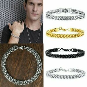 Men-Fantastic-Stainless-Steel-Cuff-Wristband-Bangle-Boy-039-s-Cool-Bracelet-Jewelry