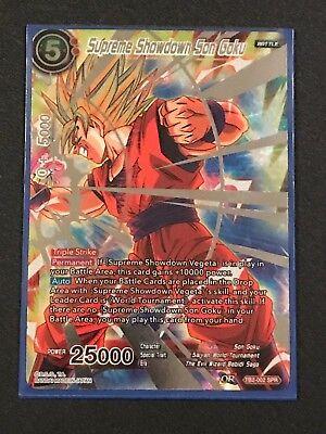 Dragon Ball Super TCG Supreme Showdown Son Goku TB2-002 Near Mint FOIL!