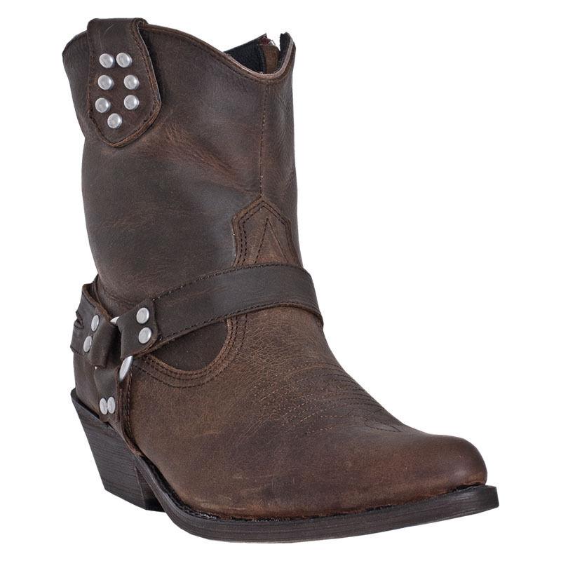 DINGO donna Marronee Low Short Zipper  Ankle Leaness stivali DI698 NIB Dimensione 6  consegna lampo