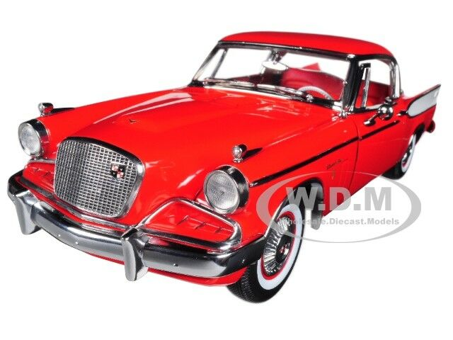 1957 STUDEBAKER oroEN HAWK APACHE rosso 1 18 DIECAST MODEL CAR BY SUNSTAR 6153