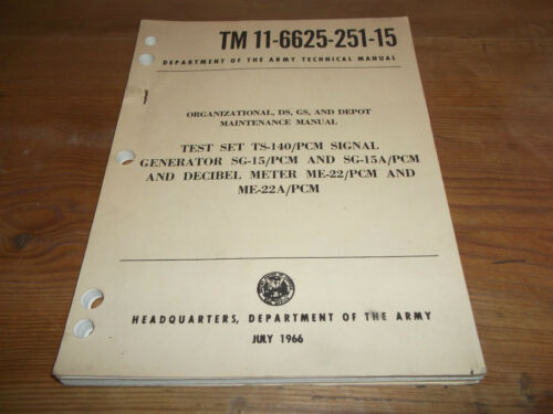 1966 USA Army Technical Manual. Test Set, Signal Generator & Decibel Meter