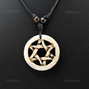 Collier pendentif hexagramme etoile triangle de Salomon A4