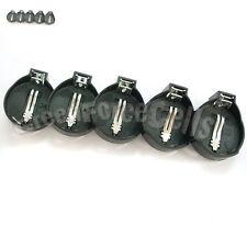 5 pcs Battery Button Coin Cell Socket Holder Case For LIR CR2032 CR2025