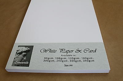 QUALITY A4 SMOOTH BRIGHT WHITE CARD OR PAPER. 120gsm 160gsm 200gsm 250gsm 300gsm