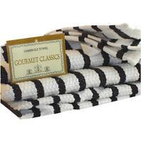 Gourmet Classics Blk Stripe Kitchen Towel