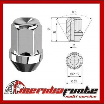 N401 DADO RUOTE 12x1,5x34 CONICO 60° PER FORD C-MAX,GRAND CMAX,MAVERICK,PROBE *