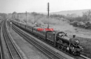 PHOTO-GWR-HALL-NO-6963-THROWLEY-HALL-1963-NEAR-GORING-amp-STREATLEY-DOWN-RELIEF-E