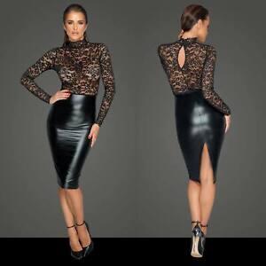 Noir Handmade Bleistift Kleid Spitze Transparent Clubwear Temptress Dress F228 Ebay