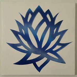 Custom lotus flower om or path of life symbol painting 12 x 12 image is loading custom lotus flower om or path of life mightylinksfo