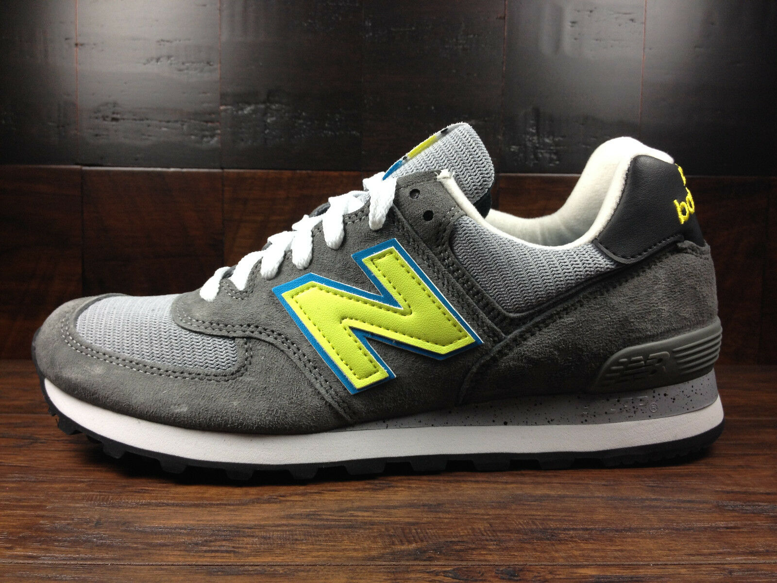 New Balance US574CY -USA 574 National Parks (Castle Rock Grey   Lime) MENS