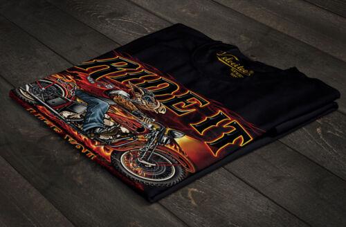 Velocitee Mens T-Shirt Ride It Like You Stole It Biker Slogan Hog A22516