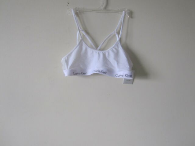 17204d161e Calvin Klein Ck One Micro Bralette QF1323 White Medium for sale online