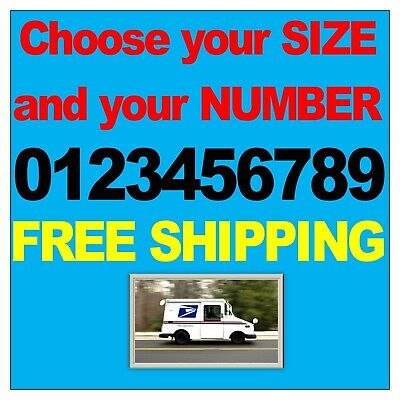 White REFLECTIVE Vinyl Decal Sticker Street Address Mailbox House Number Car